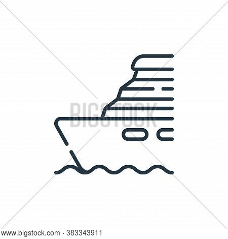 ship icon isolated on white background from public transportation collection. ship icon trendy and m