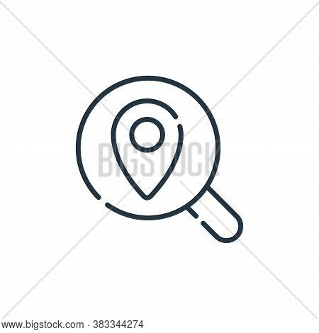 gps icon isolated on white background from location collection. gps icon trendy and modern gps symbo