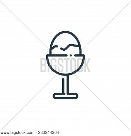 boiled egg icon isolated on white background from easter collection. boiled egg icon trendy and mode
