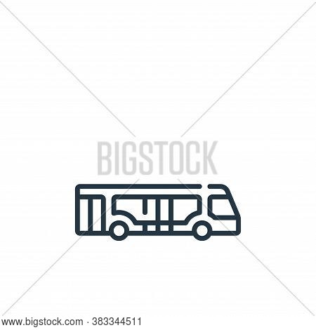 bus icon isolated on white background from aviation collection. bus icon trendy and modern bus symbo