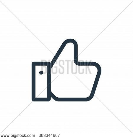 thumbs up icon isolated on white background from ui collection. thumbs up icon trendy and modern thu