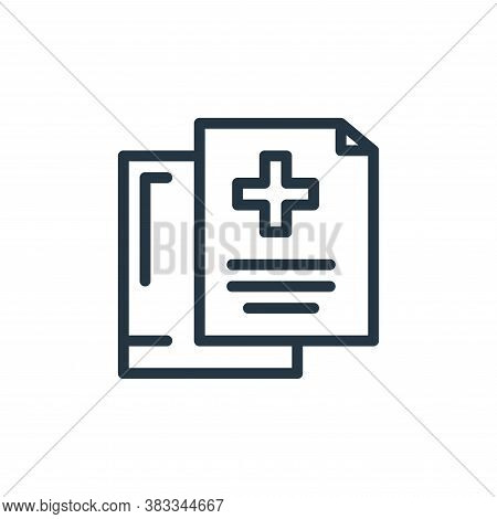 medical file icon isolated on white background from medical collection. medical file icon trendy and