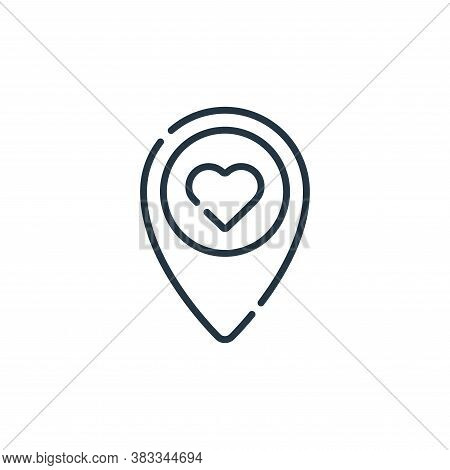 location icon isolated on white background from location collection. location icon trendy and modern
