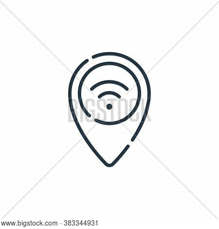 wifi icon isolated on white background from location collection. wifi icon trendy and modern wifi sy