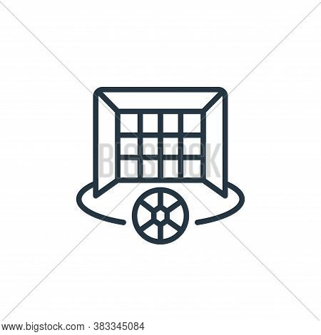 soccer goal icon isolated on white background from sports collection. soccer goal icon trendy and mo
