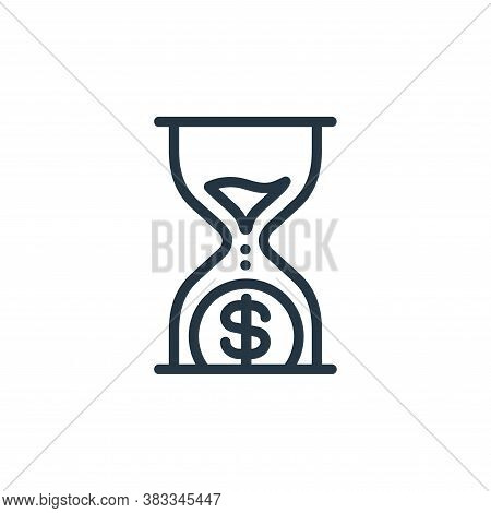 hourglass icon isolated on white background from finance and business collection. hourglass icon tre