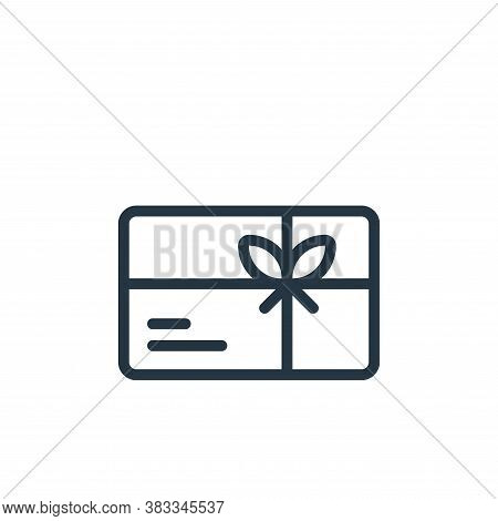 gift icon isolated on white background from ecommerce and shopping collection. gift icon trendy and