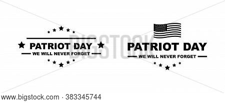Patriot Day Vector Logo. September 11. Usa Patriot Day Isolated Illustration