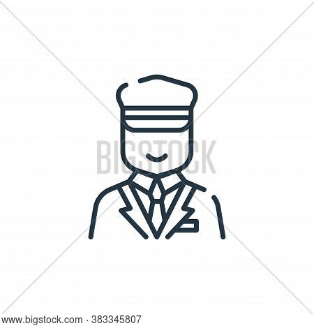 ticket collector icon isolated on white background from public transportation collection. ticket col