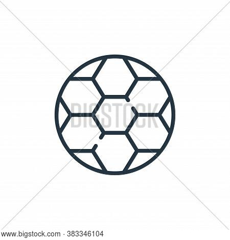 soccer ball icon isolated on white background from sports collection. soccer ball icon trendy and mo