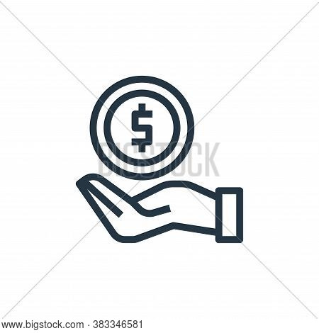 earnings icon isolated on white background from marketing seo business collection. earnings icon tre