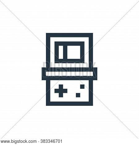 video console icon isolated on white background from wireless technology collection. video console i
