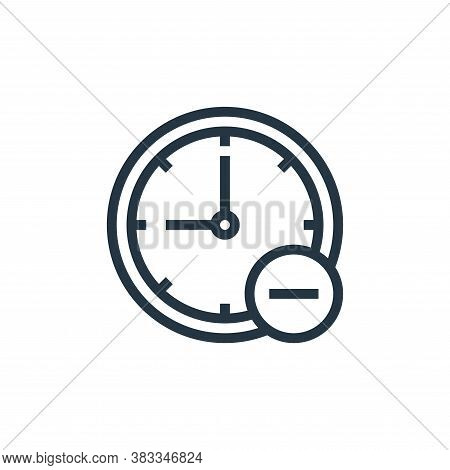 clock icon isolated on white background from online business communication collection. clock icon tr