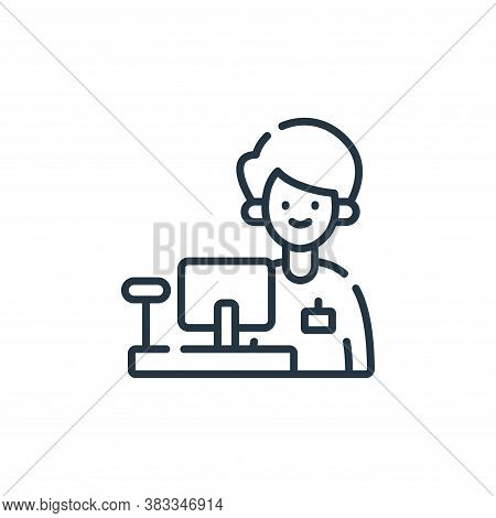 cashier icon isolated on white background from supermarket collection. cashier icon trendy and moder