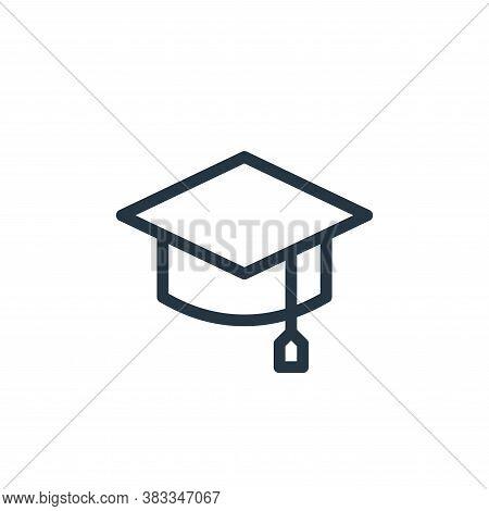 graduation hat icon isolated on white background from education collection. graduation hat icon tren