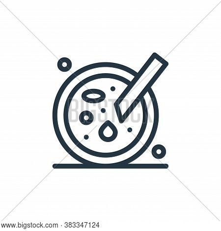 petri dish icon isolated on white background from medical collection. petri dish icon trendy and mod