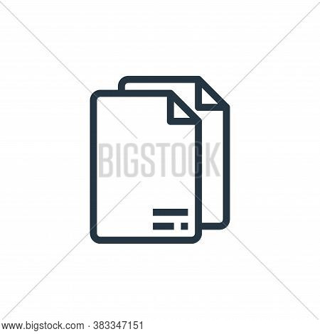 paper icon isolated on white background from online business communication collection. paper icon tr