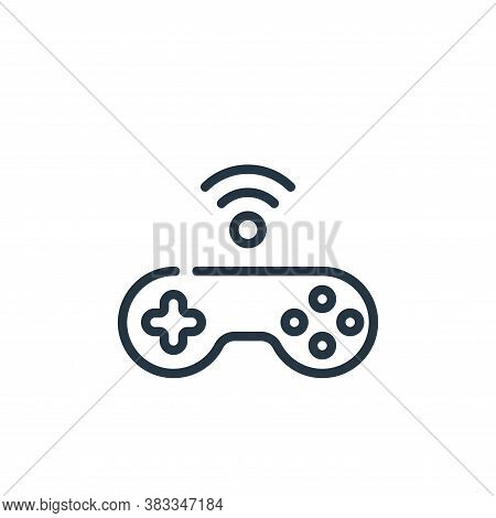 joystick icon isolated on white background from internet of things collection. joystick icon trendy