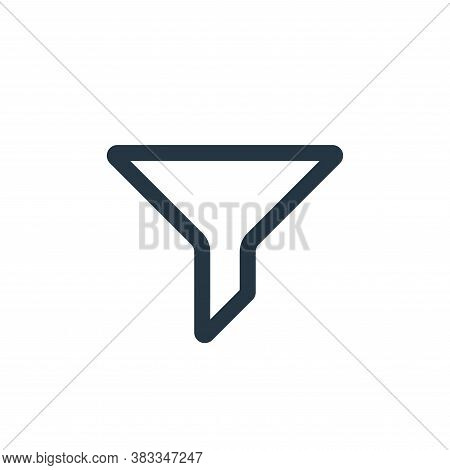 filter icon isolated on white background from ecommerce and shopping collection. filter icon trendy