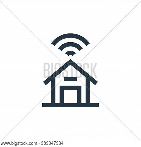 smart home icon isolated on white background from wireless technology collection. smart home icon tr