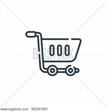 shopping cart icon isolated on white background from supermarket collection. shopping cart icon tren