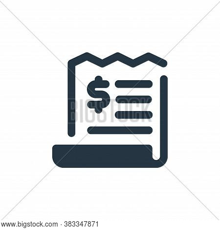 invoice icon isolated on white background from economy collection. invoice icon trendy and modern in