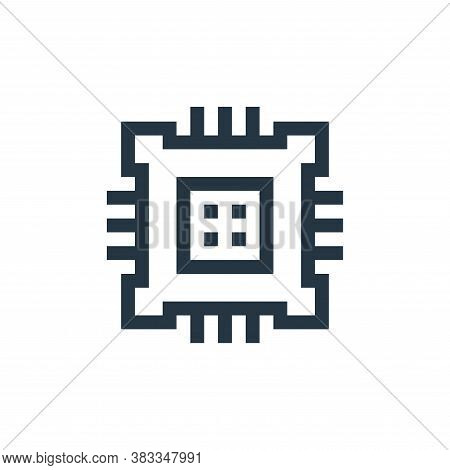 cpu icon isolated on white background from wireless technology collection. cpu icon trendy and moder