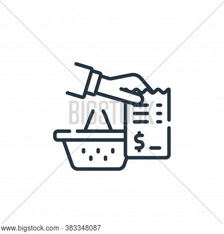 receipt icon isolated on white background from supermarket collection. receipt icon trendy and moder