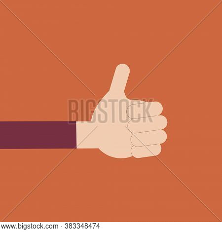 Thumbs Up. Hand With A Raised Thumb. Like, Consent, Approval. Hand Voting. Manifesting Your Choice.