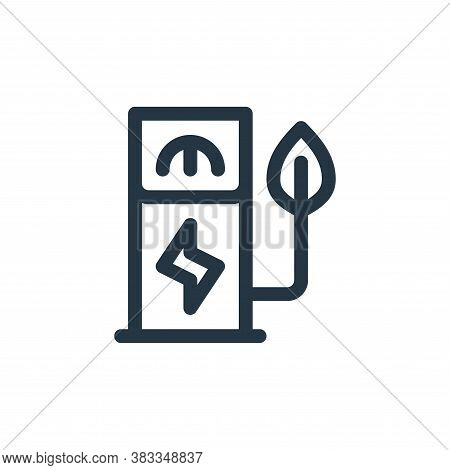 gas station icon isolated on white background from sustainable energy collection. gas station icon t
