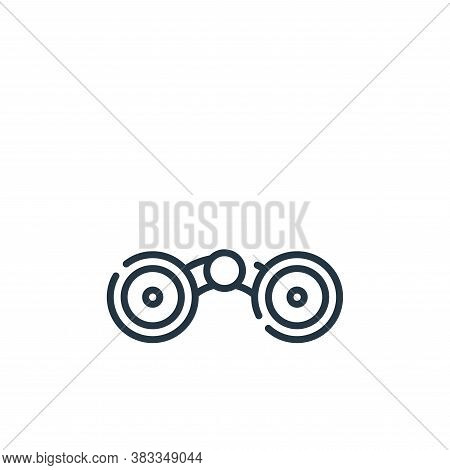 binocular icon isolated on white background from location collection. binocular icon trendy and mode