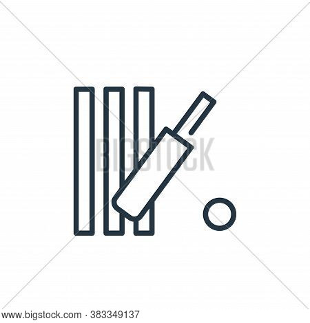 cricket icon isolated on white background from sports collection. cricket icon trendy and modern cri