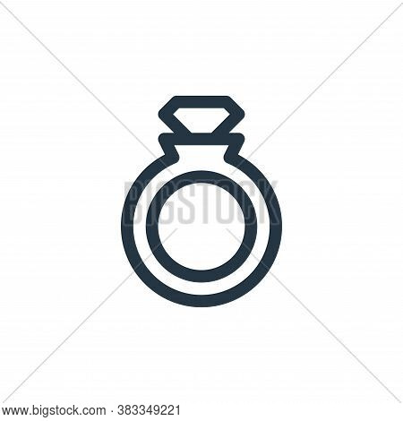 ring icon isolated on white background from videogame elements collection. ring icon trendy and mode