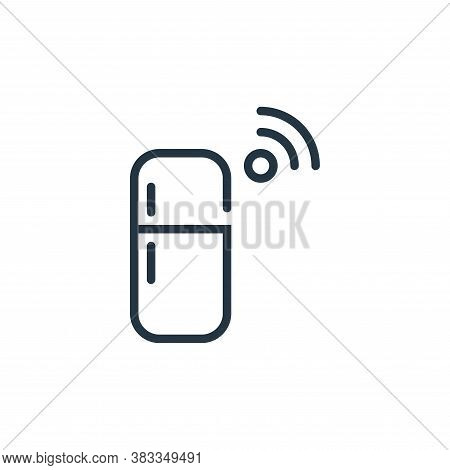 refrigerator icon isolated on white background from internet of things collection. refrigerator icon