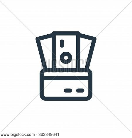 credit card icon isolated on white background from investment collection. credit card icon trendy an
