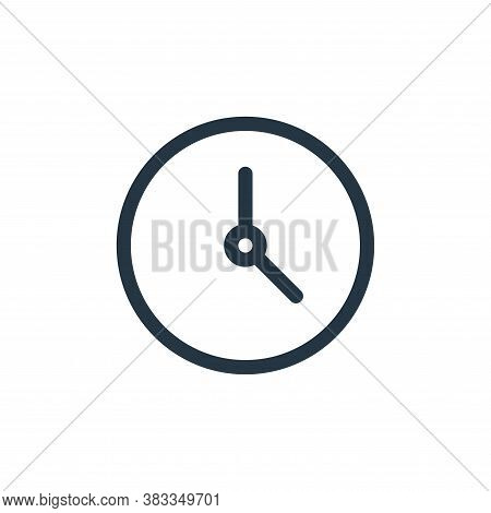 clock icon isolated on white background from education collection. clock icon trendy and modern cloc