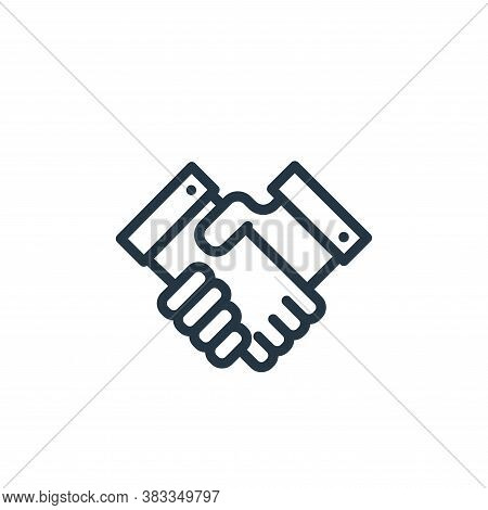 shake hands icon isolated on white background from finance and business collection. shake hands icon