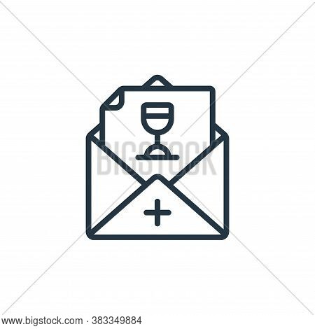 invitation icon isolated on white background from event management collection. invitation icon trend