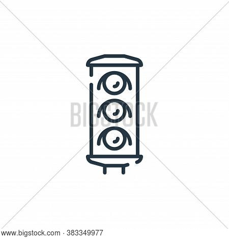 traffic light icon isolated on white background from public transportation collection. traffic light
