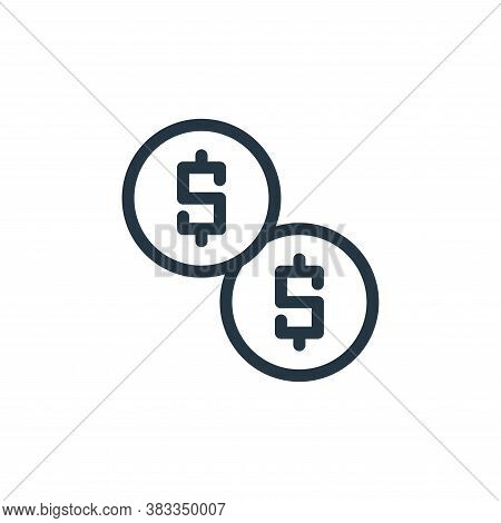 dollars icon isolated on white background from business collection. dollars icon trendy and modern d