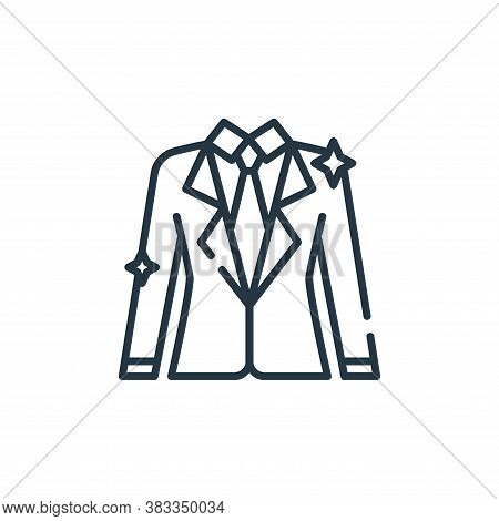 suit icon isolated on white background from party and celebration collection. suit icon trendy and m