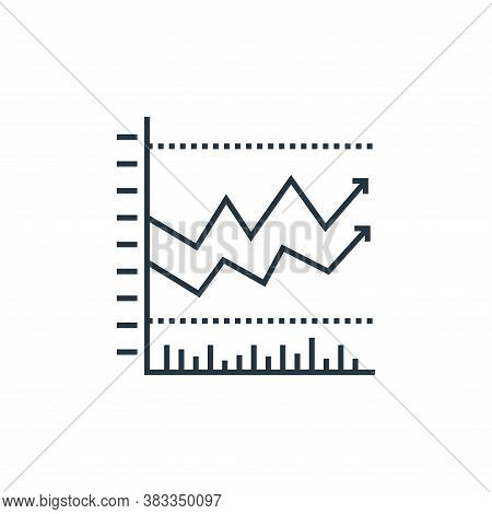 statistics icon isolated on white background from data analysis collection. statistics icon trendy a
