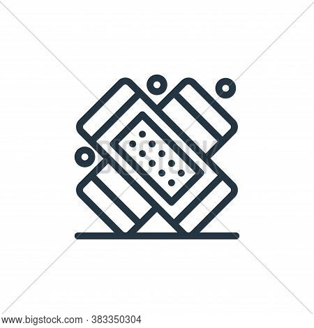 bandage icon isolated on white background from medical collection. bandage icon trendy and modern ba