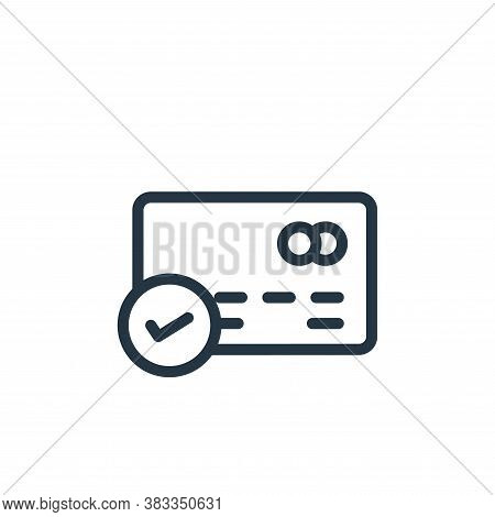card icon isolated on white background from ecommerce and shopping collection. card icon trendy and