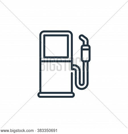 fuel station icon isolated on white background from car engine collection. fuel station icon trendy