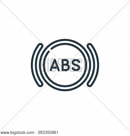 abs icon isolated on white background from car engine collection. abs icon trendy and modern abs sym