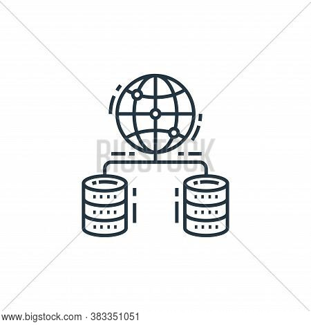 global server icon isolated on white background from data analysis collection. global server icon tr