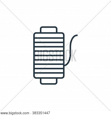 thread icon isolated on white background from fashion collection. thread icon trendy and modern thre