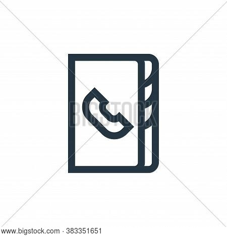 phonebook icon isolated on white background from call center service collection. phonebook icon tren
