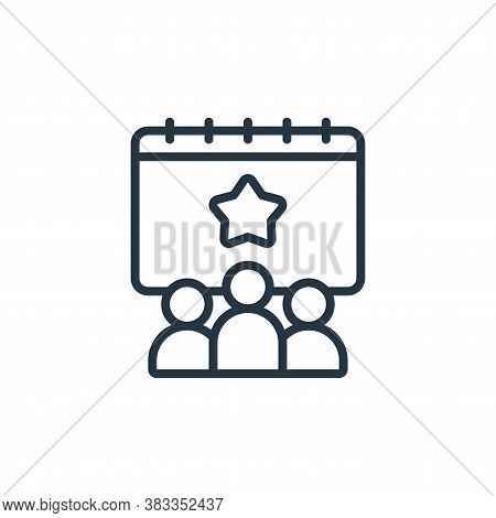event icon isolated on white background from event management collection. event icon trendy and mode